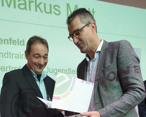 Markus Matt erhält DFB-Ehrenamtspreis